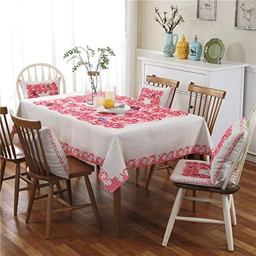 LIUJIU Mantel rectangular para mesa de cocina, mantel de vinilo, resistente al agua, resistente a las manchas, 110 x 160 cm
