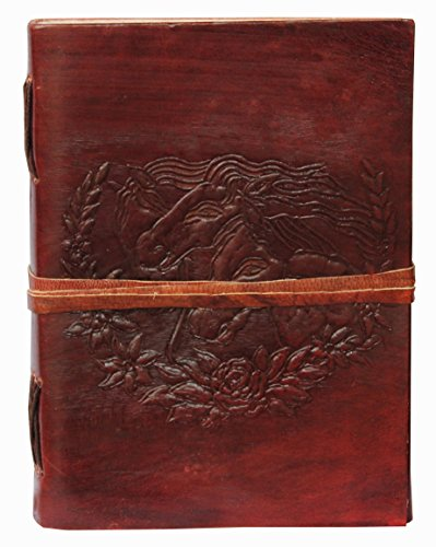 Leather Journal Celthic Double Horse Leather Journal Notebook Diary By Gbag T