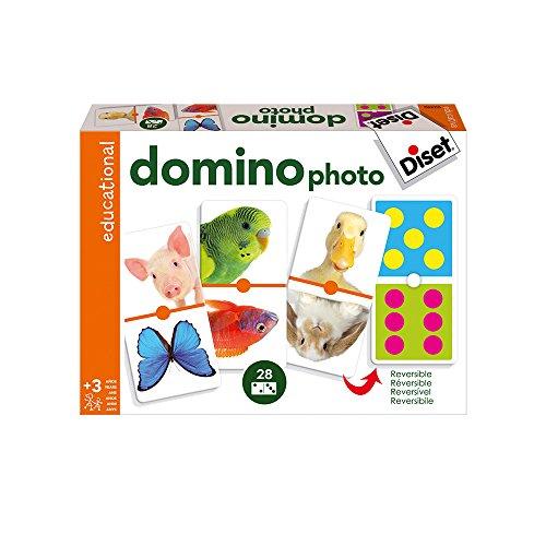 Diset - Domino Photo Animals, Juego Educativo (63492)