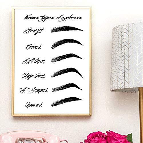 MJKLU F1 carScandinavian Lienzo Pintura al óleo Imagen de Maquillaje de Ojos para salón de Belleza Tienda decoración del hogar Cartel de Moda Modular Simple Sala de Estar