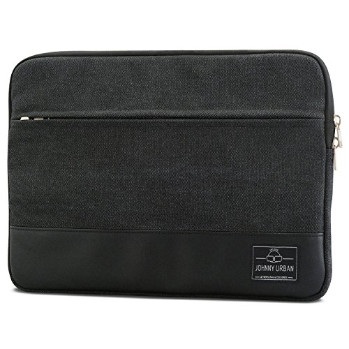Johnny Urban MacBook Pro 13 (2020-2016) Hülle, MacBook Air (2020-2018) Tasche Schwarz Laptop Sleeve aus Baumwoll Canvas Laptoptasche fürs MacBook Pro 13, MacBook Air, 11-12 Zoll Notebooks