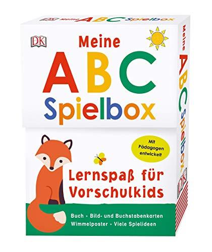 Lernspaß für Vorschulkids. Meine ABC-Spielbox: Buch, Spielkarten und Wimmelposter. Mit Pädagogen entwickelt