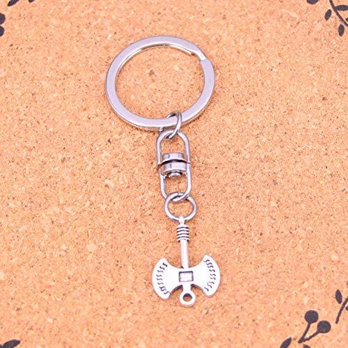 GEYKY Silber Farbe Metall Axt Axt Schlüsselanhänger Zubehör Verchromter Schlüssel