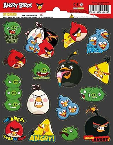 FUNNY PRODUCTS - Pegatinas de Angry Birds, Multicolor