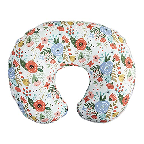 Boppy Nursing Pillow Cover—Premium   Mint Floral   Soft, Quick-Dry Microfiber Fabric  Fits Boppy Bare Naked, Original and Luxe Breastfeeding Pillow   Awake Time Only