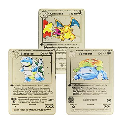 Metal Pokemon Cards Charizard Blast…