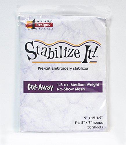 Amazing Designs Stabilize It Cut Away Pre-cut embroidery Stabilizer 9 in x 12 1/2 in