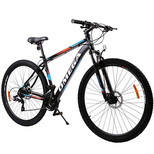 OMEGA BIKES Thomas 27.5 Zoll Mountainbike, geeignet ab 185 cm, Scheibenbremse, Shimano 21 Gang-Schaltung, Gabel-Federung, Jungen-Fahrrad & Herren-Fahrrad