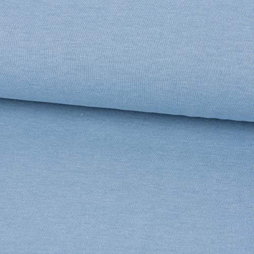 Mooi leven. Sweatstof melange eenkleurig licht jeansblauw gemêleerd 1,4 m breedte