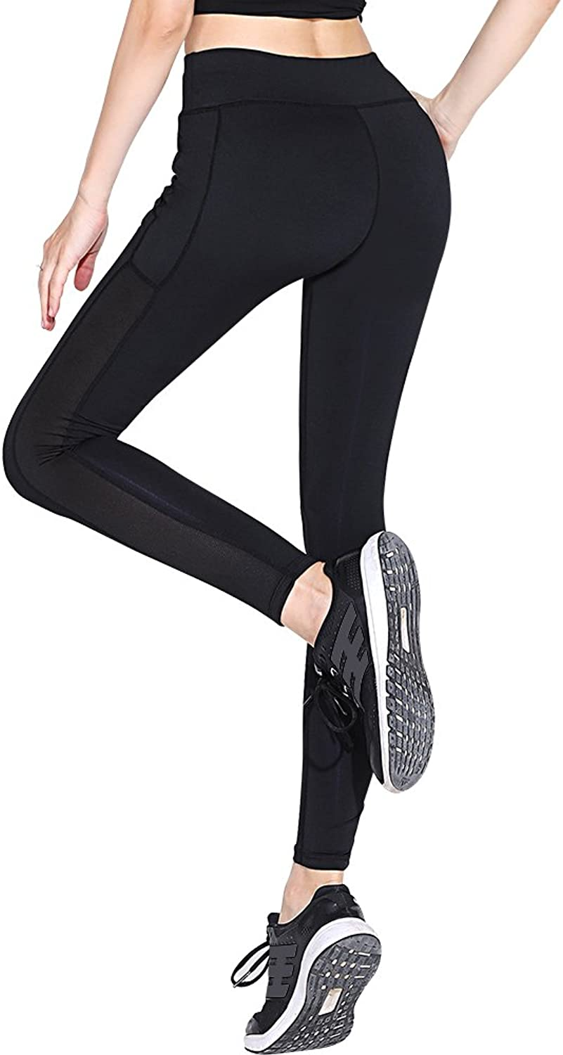 YOKJOY Yoga Pants Women, High Waist, Out Pocket, Tummy Control, Ultra Soft,Slim-Fit Workout Fitness Running Yoga Leggings