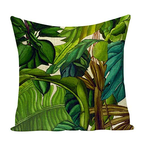 miwaimao 2 piece Christmas pillow Plant tropical decoration cushion Linen decorative pillows cushion cover parrot cushions home decor pillow cover