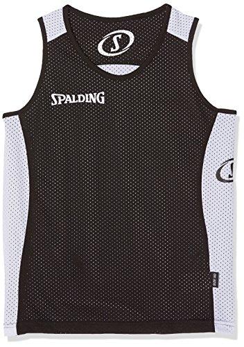 Spalding Herren Essential Reversible Shirt, Mehrfarbig (Schwarz/Weiß), 164