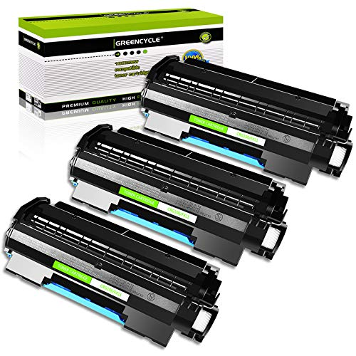 GREENCYCLE 3 PK Black Toner Cartridges Replacement Compatible for Canon 106 0264B001AA imageClass MF6530 MF6540 MF6550 (5000 Yield per Toner)