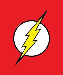 JPI DC Comics Justice League Superhero The Flash Lightning Logo Fleece Throw Blanket