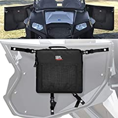 Fitment: Comes with 2 RZR side door bags one for left and another for right, these door storage bags fit for Polaris RZR 570 / 800 / 4 800 / S 900 / 4 900 / XP 1000, 4-door aftermarket doors. Dual Storage Area: Outside net pocket to put your phone, e...