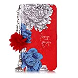 Misteem Custodia Fiore Colorate per iPhone 11 Pro Catena Pendente Cover - Flip Magnetica A...