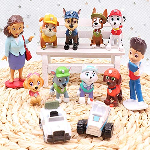 12PCS paw patrol cake topper and cup cake topper, Children Birthday party supplies.Paw Patrol Mini action figure