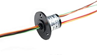 Comidox 12.5mm 300Rpm 6 Wires CIRCUITSx2A Capsule Electrical Slip Ring for Monitor Robotic Electrical Test Equipment 1Pcs