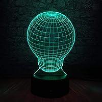 子供の夜のクリスマスのギフトのための夜ライト3D、夜ランプ7Colorの変更の球根