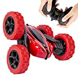 RC Stunt Car for Kids, 2.4 GHz Remote Control Stunt Car Double Sided 1:24 RC Vehicle Toy 360 Rotation (Red)