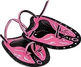 Cressi Swim Paddle Palette Premium da Nuoto, Nero/Rosa, Uni
