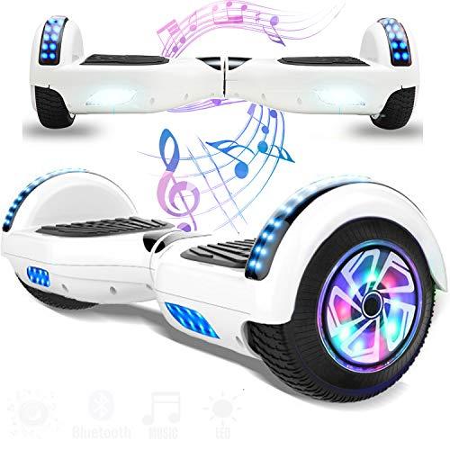 Magic Vida Skateboard Elettrico 6.5 Pollici Bluetooth con Due Barre LED Monopattini elettrici autobilanciati di buona...