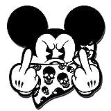 Skino 2 x Auto-Adhésif Autocollants Stickers Vinyle Mickey Mouse Médius Majeur...