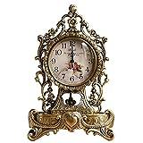 Fengshop Orologio Digitale Orologi silenziosi in Rame Puro Orologi Europei antichi Orologi da Salotto Orologi creativi Orologi retrò Tutti Gli Orologi di Rame Sveglia Digitale