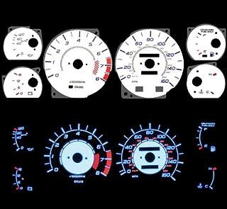 Blue Indiglo Glow White Gauges For 86-92 Toyota Supra Nt Na Non-turbo