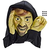 Scary Peeper - Halloween Animated Decoration Prank with Creepy Face, Knocks on Window - Funny Motion Activated Gag Prop for Haunted House