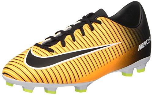 Nike Mercurial Victory VI FG, Scarpe da Calcio Unisex – Bambini, Arancione (Laser Orange/Black/White/Volt), 36 EU