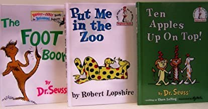 Ten Apples Up On Top / Put Me in the Zoo / The Foot Book - 3 Book Set (I Can Read It Beginner Books) by Dr. Seuss (1965-08-01)