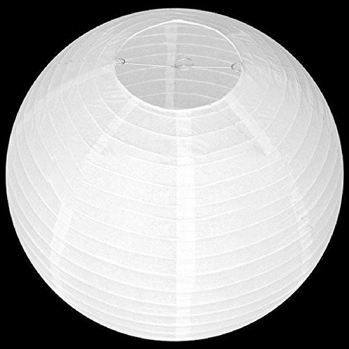 VANKER 4/6/8/10 Pouces Blanc Pliant Pendaison Ball Lanterne de Papier à la Maison décoration de fête de Mariage 8 Pouces