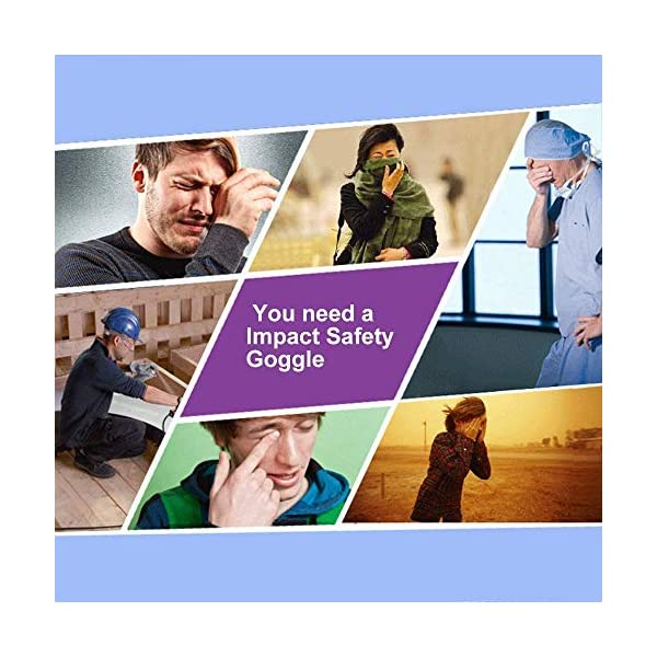 Gafas Proteccion,Gafas Protectoras,Gafas de Seguridad Lentes Livianos de Visión Amplia, Lentes Transparentes Protección Ocular Ajustable para Laboratorio de Construcción Splash Home Lawn