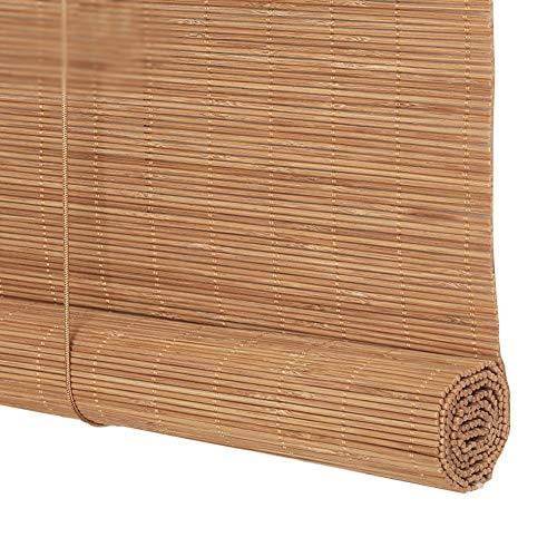 LIANGJUN Store Enrouleur Bambou Rideau Couper Bande De Bambou Tissage Retrousser Tirer La Corde Résistant À L'usure Balcon Personnalisable (Color : B, Size : 140x120cm)