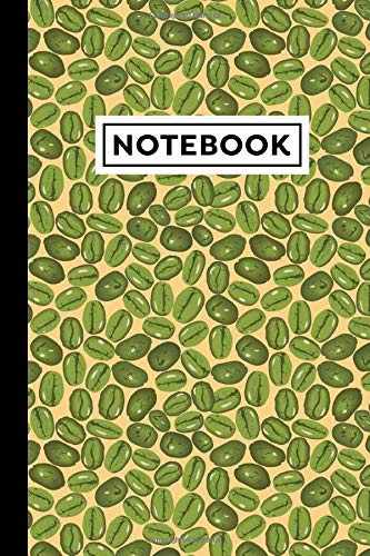 Notebook: Green Coffee Notebook - Green Coffee Themed Gift For Green Coffee Lovers - Green Coffee Journal - 6 x 9 Inches - 120 Lined Pages With Green Coffee Themed Borders