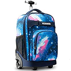 cheap WEISHENGDA 18 inch roll backpack travel book bag for adults and school children, …