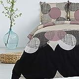 [page_title]-Bettwäsche 3 TLG 200x220 cm Deckenbezug 80x80 cm Kissenbezug 100% Baumwolle Renforce Reißverschluss Bettwäscheset Bettwäschebezug Bettwäscheüberzug, Muster