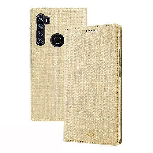 Happy-L Caso Funda de Billetera para redmi Note 8T, Caja del teléfono con Soporte de la Tarjeta de identificación, Flip imán, función de Soporte, Cubierta Protectora a Prueba de Golpes