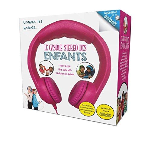 Megagic CA2 kinderen stereo koptelefoon met volumeregelaar - Zoals de grote Roze