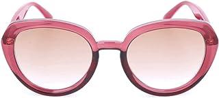 نظارة شمسية دائرية للنساء من جيمي تشو، عدسات بلون بني