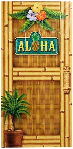 "Price comparison product image Beistle 57314 Aloha Door Cover,  30"" x 5'"