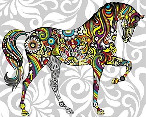 QLCUY Verf Door Getallen Voor Volwassenen Diy Acryl Schilderij Kit Voor Kinderen & Volwassenen Beginner – 16