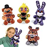 4 Pcs Five Nights at Freddy's Plushies, FNAF Plush Figure Toys, 7.1' Dolls Soft Toys, Freddy's Party Supplies Birthday Gift for Kids(Bonnie, Freddy, Chica and Foxy)