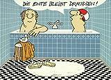 Postkarte A6 • 052 ''Ente bleibt draußen'' von Inkognito • Künstler: LORIOT DESIGN GMBH  Loriot • Satire