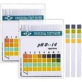 Universel de test pH Bandes de papier, PH Mètre Gamme complète, 0–14PH et corps Acide alcalin PH Level, 2boîtes, totalement 200bandes