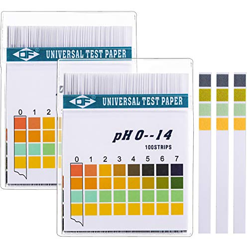 Tiras de Papel Reactivas de pH Universal para Probar Nivel de pH Alcalino Ácido Corporal, Cuidado de Piel, Acuarios, Agua Potable, con 4 Paneles de Prueba, Medir Rango Completo 0-14