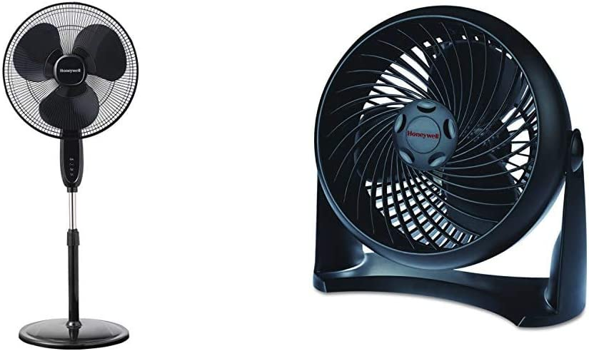 Honeywell 67% OFF of fixed price Double Blade 16 latest Pedestal Fan With Control Black Remote