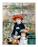 Puzzle 500/1000/1500 Piezas Renoir Pintura al óleo de la Serie Rompecabezas - Dos Hermanas (en la terraza) - Adultos Niños único Corte Que entrelaza Piezas encajan Perfectamente (Size : 1000pcs)