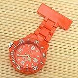 LLGG Reloj De Bolsillo Enfermera Movimiento Cuarzo,Reloj de Bolsillo Femenino Luminoso médico de la Enfermera, cronómetro del Reloj del Pecho del Examen-Rojo,Reloj MéDico De Bolsillo Colgante